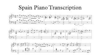 Spain - Yohan Kim (Piano Transcription)