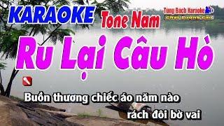 Ru Lại Câu Hò ( Tone Nam )    Karaoke Nhạc Sống Tùng Bách