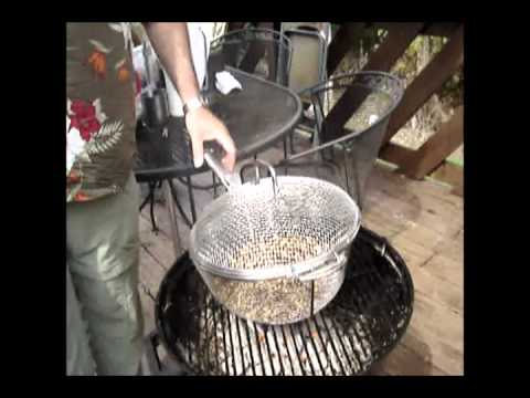 Inexpensive and Relatively Simple Method for Roasting Coffee Beans at Home.