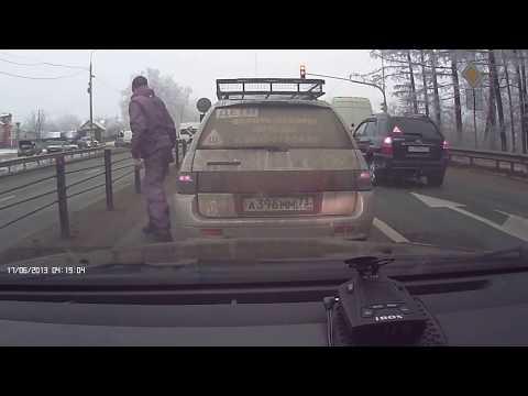 Борзый водитель на BMW X5 в Чувашии