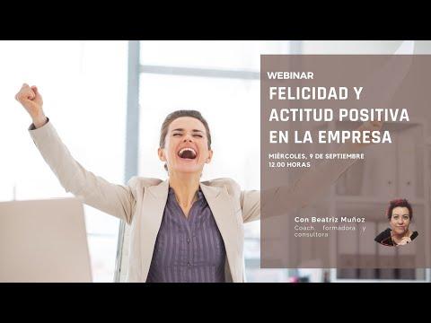 Webinar felicidad y actitud positiva en la empresa