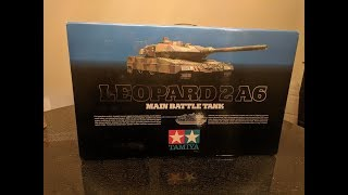 Tamiya 1/16 RC Full Option Leopard 2A6 Tank #56020 Build Video with upgrades Part 1