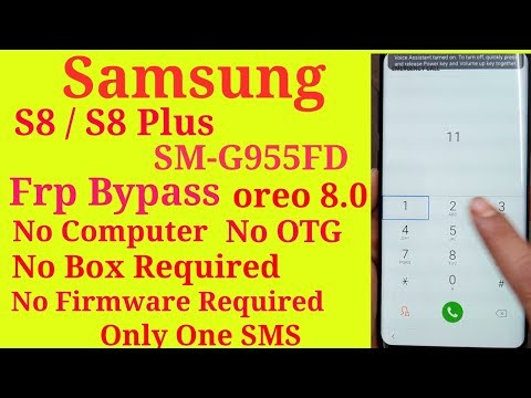 Samsung S8 S8+ Frp bypass without firmware download || SM