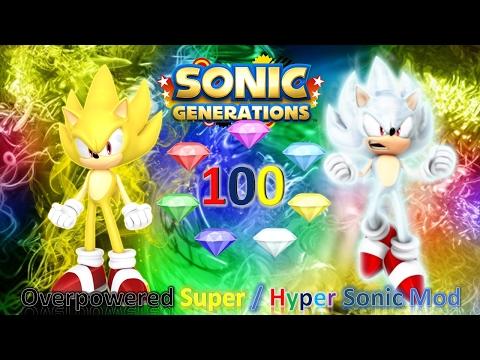 Sonic Generations Mod Part 117_ Kaioken Sonic Mod - смотреть