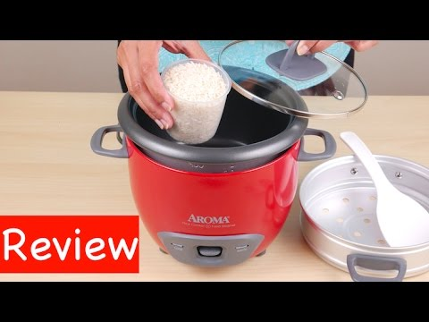 , Aroma Housewares 6-Cup (Cooked) (3-Cup UNCOOKED) Pot Style Rice Cooker and Food Steamer