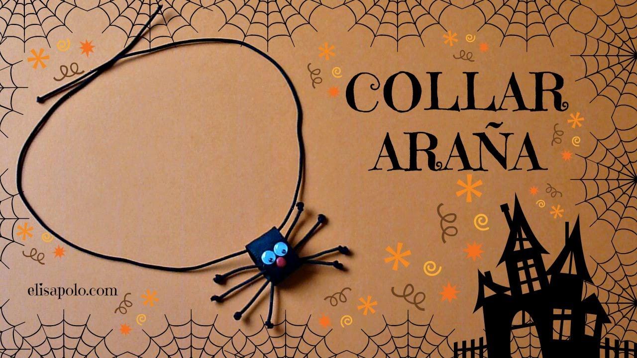 Collar Araña, Cómo hacer un Collar para Halloween, Tutoriales de Manualidades para Halloween