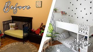 KID'S TINY BEDROOM MAKEOVER ON A BUDGET + DIYS! WE SURPRISED THEM WITH A NEW BEDROOM IN ONE DAY?!?😱