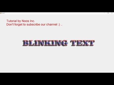 Blinking Text in Visual Basic .NET