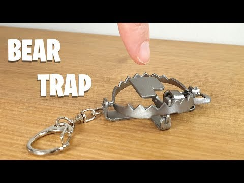 This guy made a MINI bear trap and it's incredible.