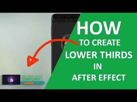 Minimalist Lower Third After Effects Tutorial