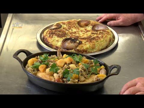 Poulet farci aux fruits secs et rösti suisse