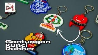 Souvenir gantungan kunci rubber natal