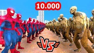10.000 ÖRÜMCEK ADAM VS 10.000 ZOMBİ 😱   Süper Kahramanlar