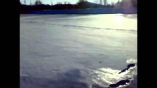 По реке на велосипеде зимой