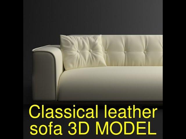 Classical leather sofa