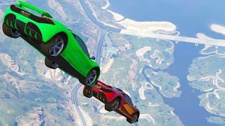 MID AIR CAR BATTLES! (GTA 5 Funny Moments)