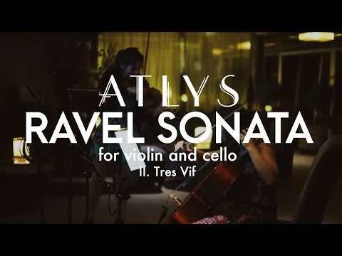 Ravel Sonata for Cello and Violin - 2nd movement, Tres Vif