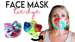 Tie Dye Face Mask Technique! DIY Crumple And Spiral Patterns