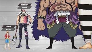 One Piece Size Comparison (Post-Timeskip/Part2)