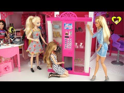 Maquina Dispendasora de Juguete con Muñecas  Barbie Elsa y Anna