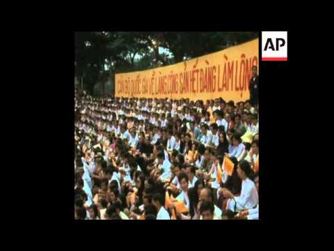 Download SYND 11-11-73 PRESIDENT NGUYEN VAN THIEU ATTENDS REVIEW PARADE Mp4 HD Video and MP3