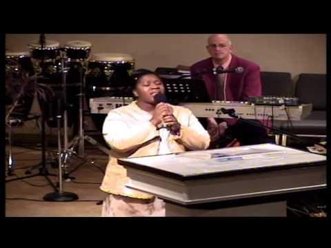Norfolk Apostolic Church Amy Clay Singing 03-17-13