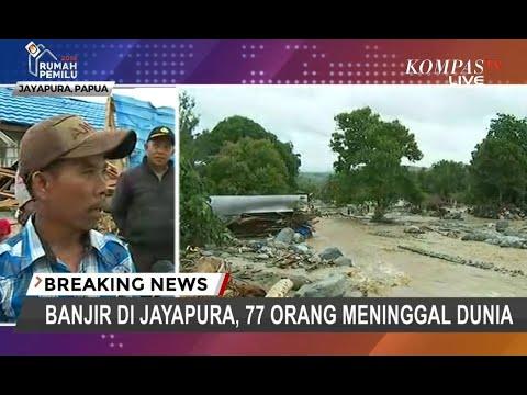Banjir di Jayapura, 4 Blok Perumahan Hanyut