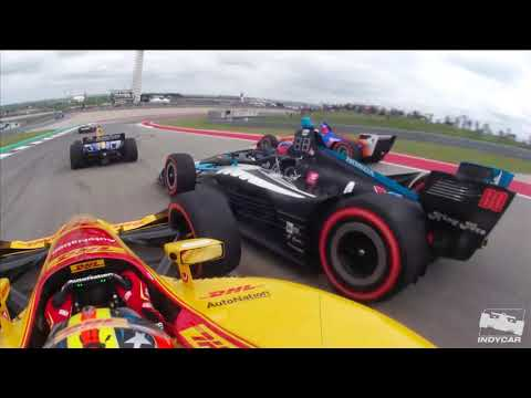 INDYCAR at Circuit of The Americas | AWESOME Lap 1 onboard views