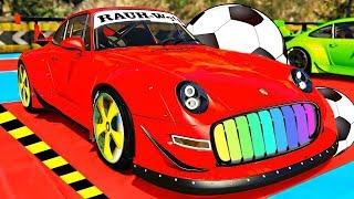 Машинки мультики для детей. Цветные Машинки Porshe 911 и песенки для детей. Мультфильмы