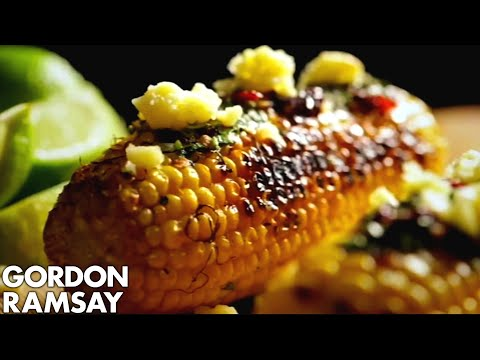 Charred Corn with Chipotle Chilli Butter - Gordon Ramsay