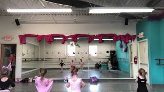 Tap recital dance with music
