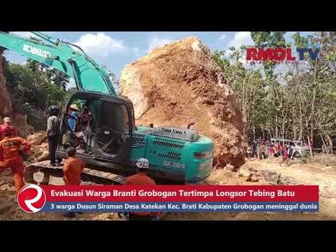 Evakuasi Warga Brati Grobogan Tertimpa Longsor Tebing Batu