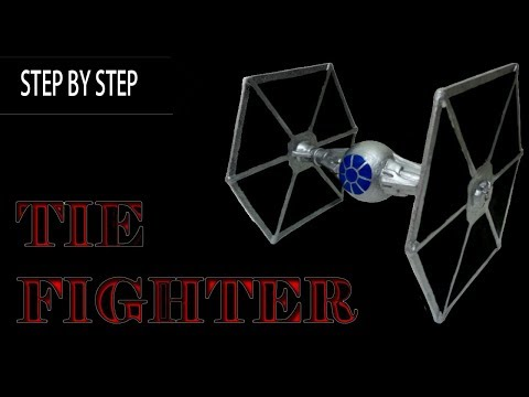 Homemade TIE fighter Toy Tutorial How to make D.I.Y