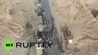 Беспилотник заснял продвижение сирийской армии в Ракке