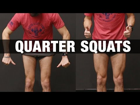 How to Get Bigger Legs Fast (QUARTER SQUATS!)