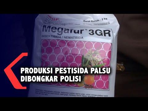 Polisi Bongkar Produksi Pestisida Palsu Berbahan Pasir yang Diberi Pewarna