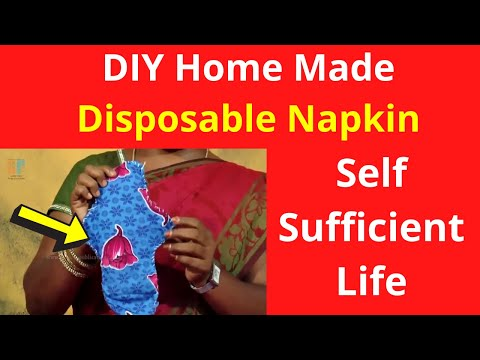 DIY Home Made - Nature Disposable Napkin | Self Sufficient Life