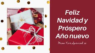 Word search Christmas vocabulary and phrases to write on Christmas cards in Spanish
