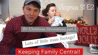 Vlogmas Ep. 2, Keeping Marriage Fun! Family And New RV Christmas Decorations!
