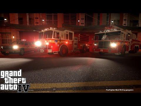 GTA IV - Firefighter Mod - FDLC - смотреть онлайн на Hah Life