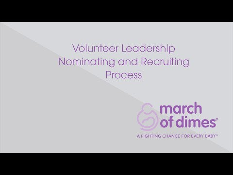 Volunteer Leadership Nominating and Recruiting Process