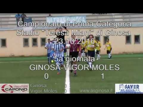 """Preview video GINOSA-VIGOR MOLES 0-1 Il Ginosa cede lo scettro al Mola che trova il Jolly ed espugna il """"T.Miani""""."""