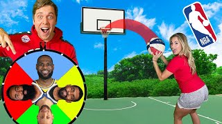 PICK YOUR NBA PLAYER TRICKSHOT H.O.R.S.E.! *LeBron James, Stephen Curry, Kyrie Irving*