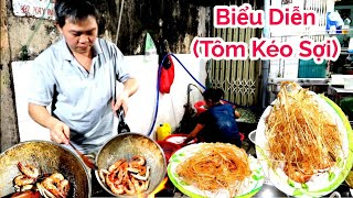Ngỡ ngàng Tôm rang muối kéo sợi món ngon độc lạ phố người Hoa Quận 11 Sài Gòn | Saigon Travel
