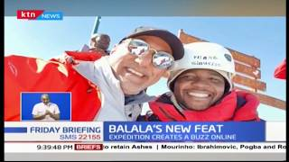 Tourism CS Najib Balala successfully completes its five day expedition to the peak of Mt. Kenya