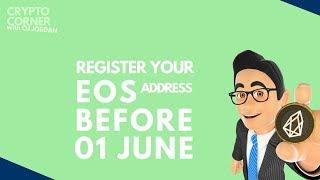 How To Register EOS (before) 1st June | Crypto Corner