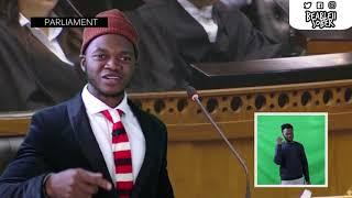 Cyril Ramaphosa Raps In Parliament #ShutUp