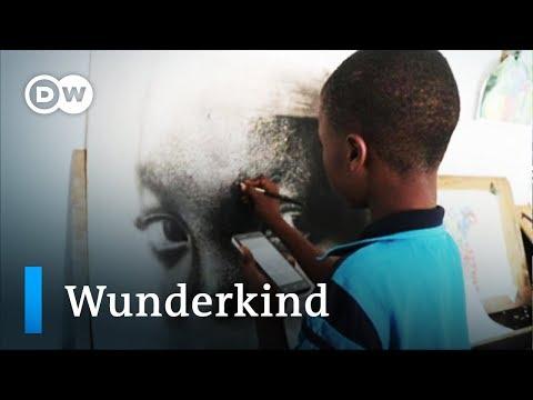 Nigerian boy stuns art world