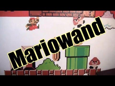 Super Mario Bros. Wandgrafik - Die Wand im Background