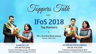 Topper's Talk: UPSC IFoS Toppers Mr. Ganesh (Rank 39) and Mr. Hitesh Meena (Rank 54)